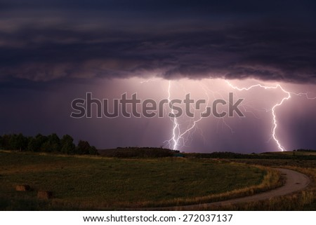 Countryside Lightning Storm