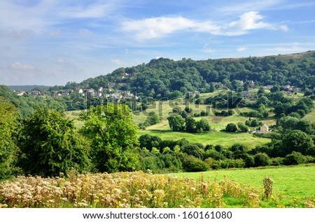 Countryside near Matlock Bath - stock photo