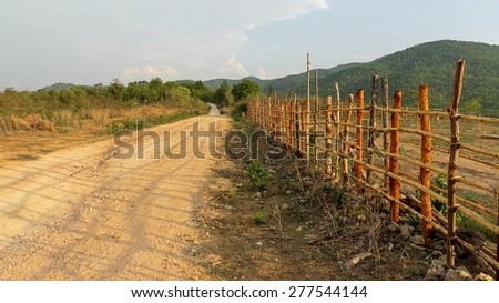countryside of Thailand - stock photo