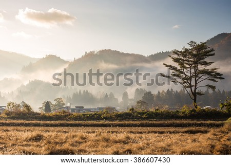 Countryside view in Japan
