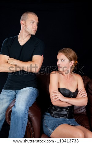 Couple angry with each other