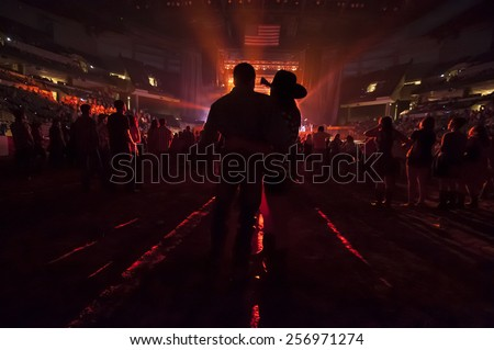 Couple at concert - stock photo