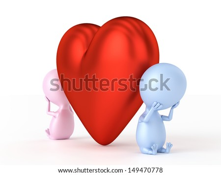 Couple Dispute - stock photo