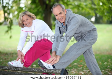 couple doing sport