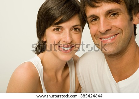 Couple dressed in white