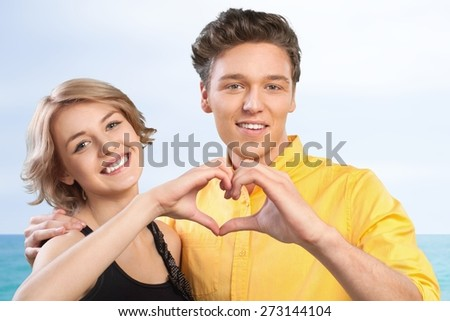 Couple, Engagement, Valentine's Day. - stock photo