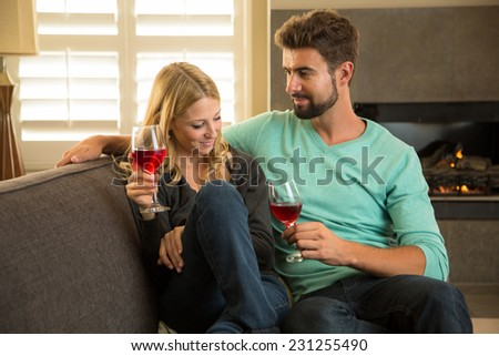 Couple enjoying a romantic date  - stock photo