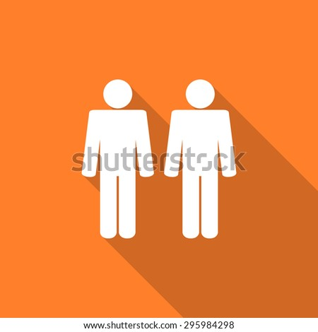 couple flat design modern icon with long shadow for web and mobile app  - stock photo