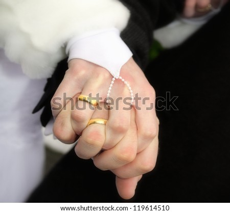 Couple hands