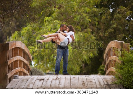 Couple having fun at the park