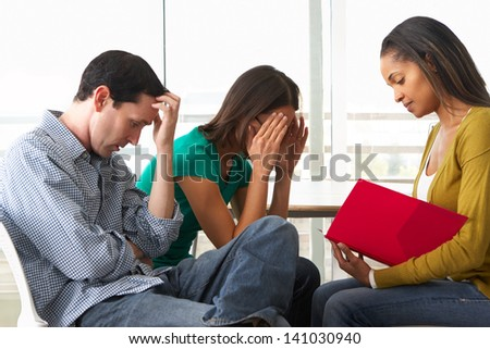 Couple Having Relationship Counselling - stock photo