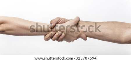Couple holding to each other letterbox - stock photo