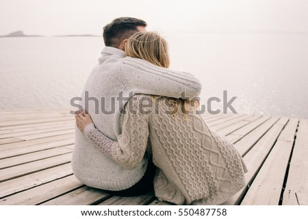 couple hugging on a pier. Couple Hugging Stock Images  Royalty Free Images   Vectors