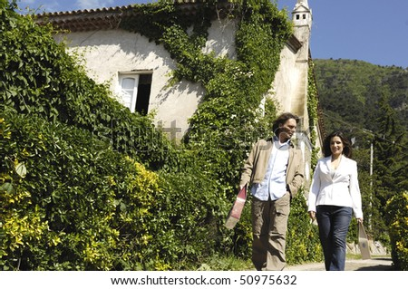 Couple in a vineyard