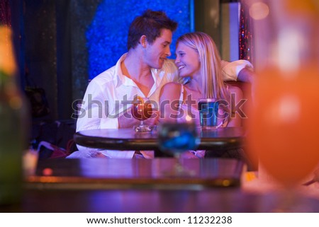 Couple In Bar - stock photo