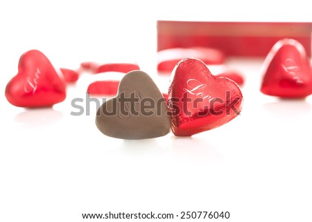 couple in love at valentine day - stock photo