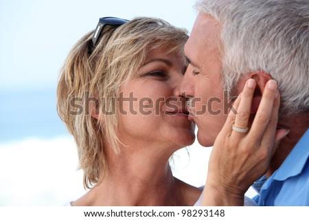 Couple kissing - stock photo