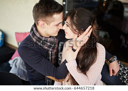 Couple kissing each other