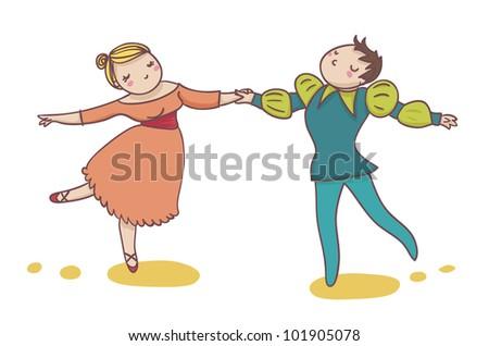 couple of classic dancer - stock photo