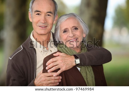 couple of grandparents embracing