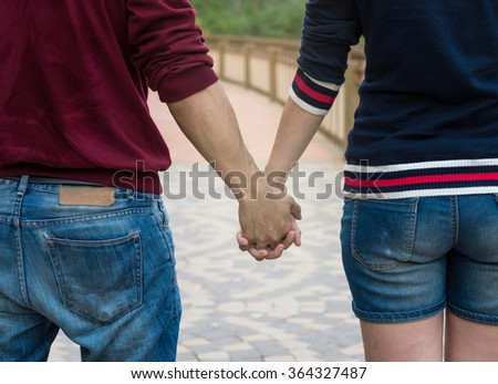 Couple of Lover holding hands