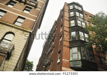 Old Apartment Building Stock Photos RoyaltyFree Images Amp Vectors   Tall  Brick Apartment Building