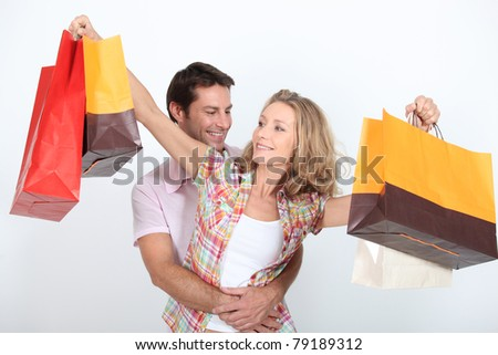 Couple on a spending spree