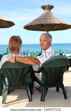 Couple on holiday together - stock photo