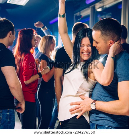 Couple on party - stock photo