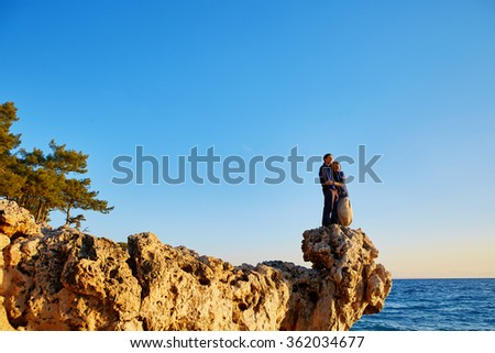 couple on the cliff