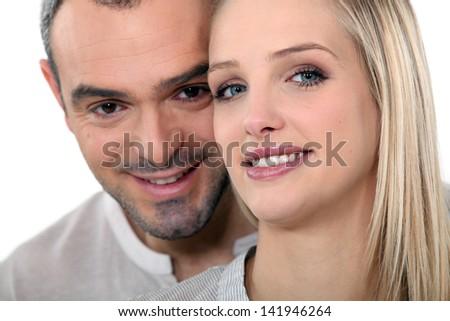 couple posing - stock photo