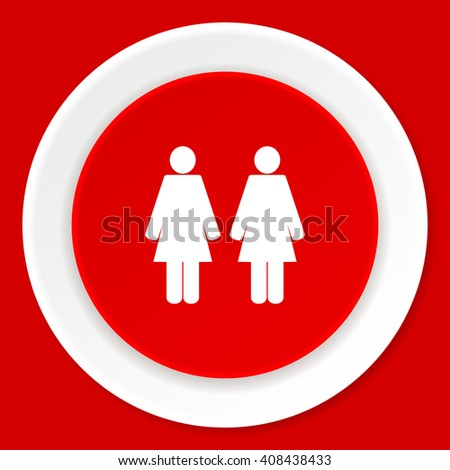 couple red flat design modern web icon