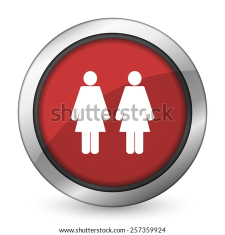couple red icon people sign team symbol  - stock photo