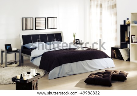 couple's bedroom - stock photo