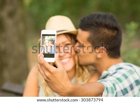 Couple Selfie in the Park
