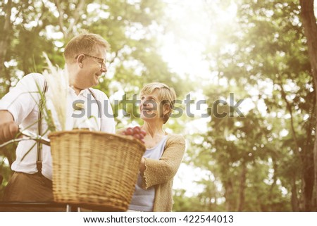 Couple Senior People Family Togetherness Concept