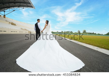 couple shooting for wedding photo album