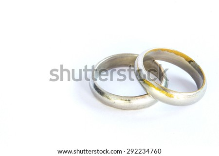 Couple silver rings. Isolated render on a white background