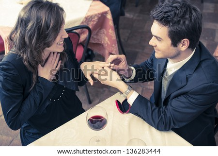 couple sitting at the restaurant