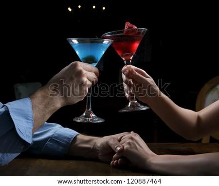 couple toasting - stock photo