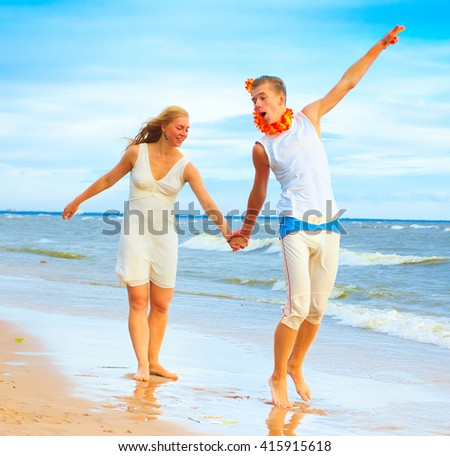 Couple Vacation Honeymoon  - stock photo