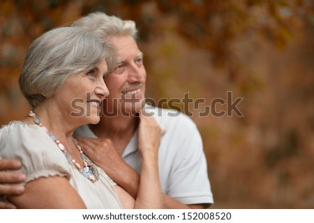 Couple walking on fresh air