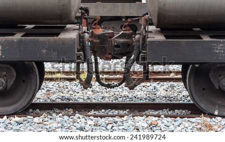 Coupler body of the oil freight for joining. - stock photo