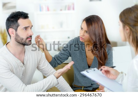 Couples therapy - stock photo