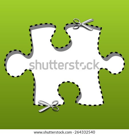 Coupon borders puzzles - stock photo