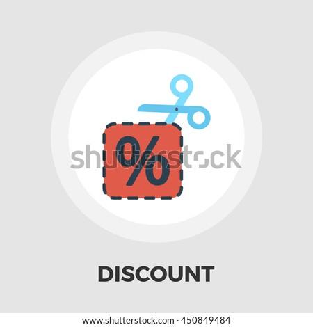 Coupon flat icon isolated on the white background. - stock photo