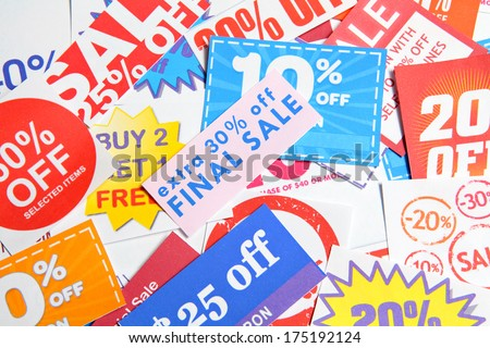 Coupons - stock photo