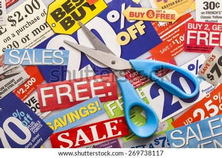Coupons, vouchers, store.