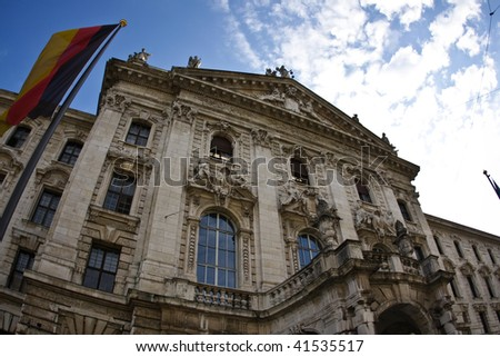 Court building in Munich, Germany - stock photo