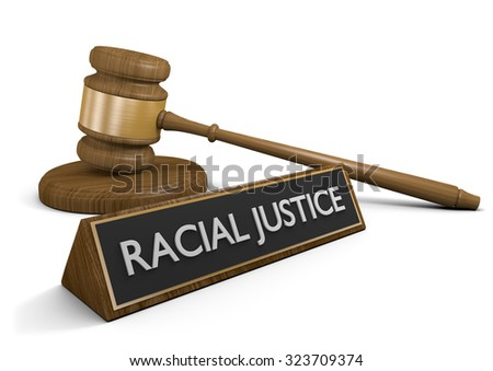 Court legal concept for racial justice laws and civil rights - stock photo